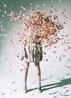 PhotoScrap: girlsingreenfields: Emporio Armani: Flower Splash.Angelina @ White Model Management photographed by Yoshiyuki Okuyama for Ginza Magazine May 2014.