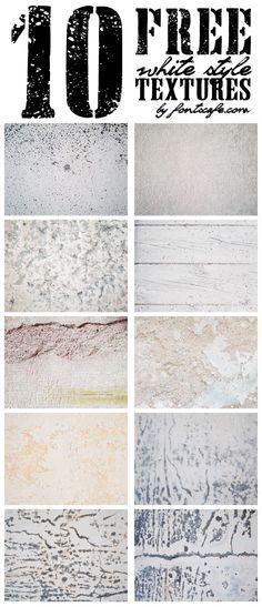 10 free white style textures! Fontscafe.com