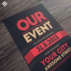 Do you have a big event and need a stunning flyer to market it? Designing a flyer is an easy and inexpensive way to promote your event. That's why specially for event marketing, our experience designe