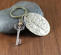 Key to Lallybroch brass keychain Outlander inspired by KLFStudio