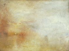 Soleil couchant sur un lac de William Turner