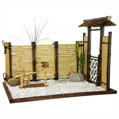Oriental Furniture Zen Mini Garden ($179) ❤ liked on Polyvore featuring home and outdoors