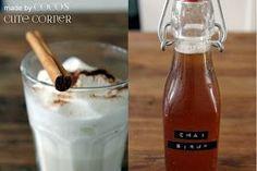Chai Sirup – Chai Latte à la Starbucks - Food&Drinks Starbucks Tea, Starbucks Recipes, Chai Latte, Coffee Latte, Hot Tea Recipes, Afternoon Tea Recipes, Breakfast Tea, Coffee Drinks, Coco