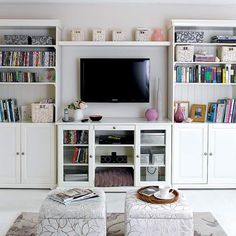 A Media Set Up With Softer Side Tv Stand