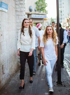 Rania de Jordania y la princesa Iman
