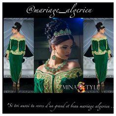 Algeria Fashion: green karakou dress