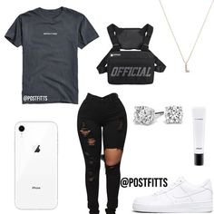some dress code friendly fits for back to school!😍 comment ur fav fit, i like the thrasher fit tbh!🤪 - - - (tags) Informations About some dress code fr Boujee Outfits, Swag Outfits For Girls, Teenage Girl Outfits, Cute Swag Outfits, Girls Fashion Clothes, Teenager Outfits, Dope Outfits, Cute Summer Outfits, Teen Fashion Outfits