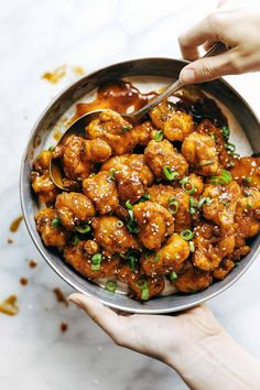 General Tso's Cauliflower | pinchofyum.com