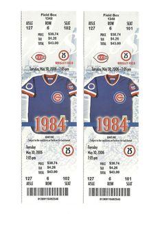 CHICAGO CUBS VS CINCINNATI REDS UNUSED BASEBALL TICKETS FROM 5/30/2006