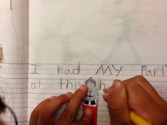 kindergarten writing, spacers