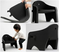 Created under the leadership of studio director Satoshi Itasaka, the 'Owl Chair' is designed to encourage young kids to manipulate its shape and experiment with spatial learning and design. The chair is made of EVA (ethylene vinyl acetate) which has essentially the same properties as foam rubber. This means that the soft and flexible polymer can be easily manipulated with minimal force.