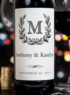Personalize wine labels for your special day