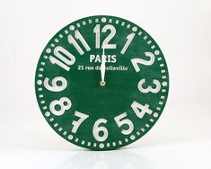 Vintage clockemerald green pseudo by DesignAtelierArticle, €57.00. Can get this for any city.