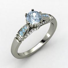 The Elizabeth Ring #customizable #jewelry #aquamarine #topaz #diamond #gold #ring #gift