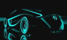 Peter Várdai, Futuristic Car, Mercedes Blackbird.  ... build on the idea of speed and freedom to strengthen the feelings toward the brand. Drawing its name from the fastest manned aircraft, the Lockheed Blackbird Sr71, features the arch and lights to emphasize the sporty shape of Mercedes. …inspired by the latest Hollywood blockbuster, the Tron Legacy…. Moreover, the Mercedes Tron vehicle makes use of novel colors to suit the movie.