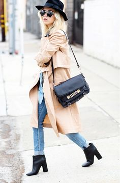 The 9 Most Versatile Closet Staples via @WhoWhatWear // draped trench