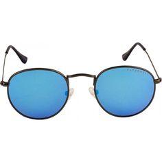a9283663076 Farenheit FA-2459-C2 Grey Frame With Polarized Sky Blue Lens Unisex Round  Sunglasses
