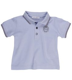 Dolce & Gabbana Blue Cotton Polo Shirt