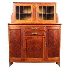 Art Deco Walnut Liquor Cabinet on Chairish.com