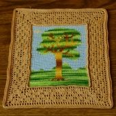 For Those Who Like TREES in their Decor - from @Interior Design Style - a Collection of #Handmade Decor with Trees! ~~~ Showing Tree Tapestry at http://www.interiordesignstyle.net/details/8648/Tree-Landscape---A-Crocheted-Tapestry.htm
