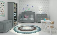 Kindermöbel komplett einrichten Möbel-Set in neutralem Grau