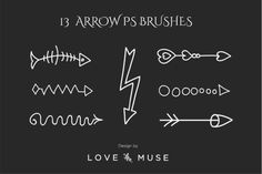 Check out 13 Arrow PS Brushes by Love&Muse on Creative Market