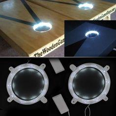 Set of 2 Cornhole Night Light Dadhole Corn Hole Bean Bag Toss Board