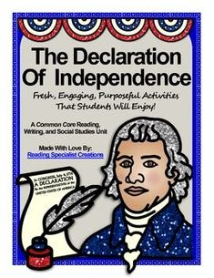 Do you want to bring the Declaration of Independence to life for your students? This is the perfect unit for you! My students enjoyed the activities in this unit and I was thrilled to see their love for history grow!