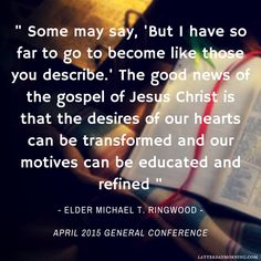 Latter-day Morning | Michael T Ringwood | Quote