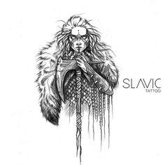 Slavic Tattoo, Norse Tattoo, Tattoo On, Wolf Tattoos, Body Art Tattoos, Viking Drawings, Insane Tattoos, Warrior Drawing, Mythology Tattoos
