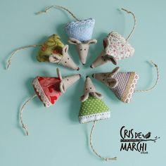 Lavender mice by Cris De Marchi Atelier