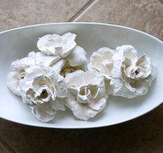 Autumn at the Beach: Easy DIY Plaster Dipped Flowers