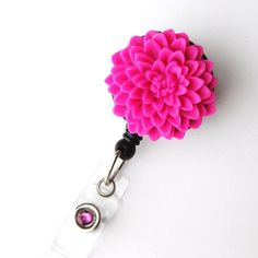 Flower Retractable ID Badge Holder  Flower Badge Reel Clips by BadgeBlooms, $8.00