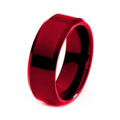 Red Tungsten Ring Red Men Tungsten Rings