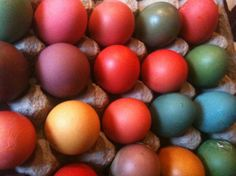Easter Eggs - Egg Dye from Food.com: Don't buy the tablets, use whats in your pantry! Glitter and tie-dyed eggs too! Use in Confetti Eggs (Cascarones) to make Cascarones. Cook time is drying time. Safe and natural for those of you who eat them easter morning!