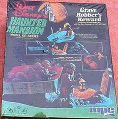 planettom: 1974 Disney Haunted Mansion MPC model dioramas with ZAP/ACTION!