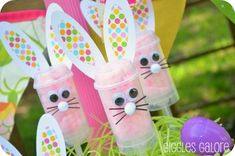 Easter Brunch and Egg Hunt - Giggles Galore Love the bunny push up pops!