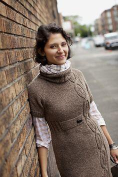 brooklyn tweed knit in patons aran (?) 5 pounds 95 beautiful dress though