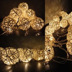 Seasonal Décor, Seasonal Lighting, Indoor String Lights,Warm White Rattan Ball String Lights Battery Powered LED Globe Ball Fairy Lights w/Remote for Indoor Bedroom Bar Home Patio Party Christmas Tree (Timer - 20 LEDs - 8 Modes) - Rattan Ball - # # White String Lights, Indoor String Lights, Rattan, Patio Wedding, Garden Wedding, Indoor Wedding, Forest Wedding, Iq Puzzle, Ideas