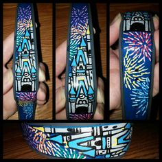 Disney Castle Painted Magic Band by BlueJeanHeart on Etsy