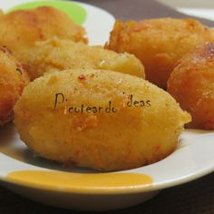 Croquetas de bacon y queso parmesano Food Challenge, Sweet Potato, Food To Make, Food And Drink, Potatoes, Favorite Recipes, Vegetables, Cooking, Ideas