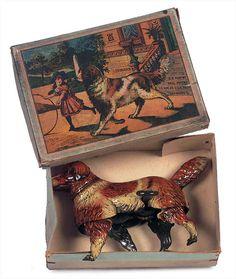 Windup dog by Lehmann in original box  Habe davon einen Terrier und den Schäferhund noch - gehörten ursprünglich der Großmutter meiner Mutter.