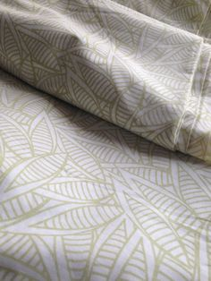 Organic Cotton Jungle PrintSoft Beige Herbal by EcoFabricStore