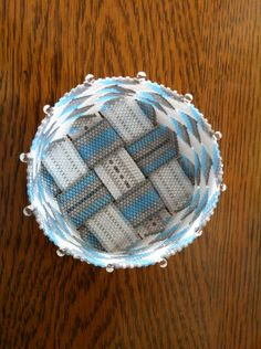 Beaded+Basket+Peyote+Stitch+with+Woven+Strip+Bottom+by+BeadHellion,+$145.00