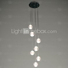 UMEI™ Modern Pendant Lights Pendant Lamp G4 Retroifit 7 Lights Chrome Plating Crystal for Dining Room Stairs Light 2017 - $203.99