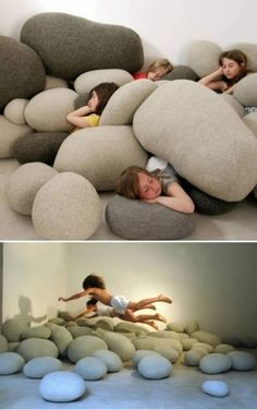 Rock Pillows by corrine I LOVE THIS! So much fun...for kids and the kids at heart:).  ***i would use these to re-enact a Star Trek scene! Haha