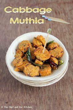 Cabbage Muthia   Gujarati Snacks Recipes