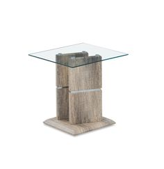 T662E End Table  Standing on durable pedestal base this furniture is able to become a charming adornment and functional additional of your seating group. Natural finishes and pure contemporary look add this table contemporary charm and elegance.
