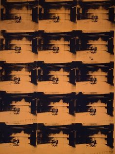 'Death and Disaster series' Collection Online   Andy Warhol. Orange Disaster #5. 1963 - Guggenheim Museum