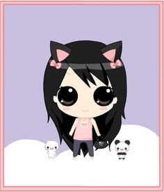 This is from Chibi Dress Up Game by [link] is like am dressed today and it looked so cute that chibi i had to post it, that's me in a kawaii chibi style. Chibi Kawaii, Chibi Anime, Cute Chibi, Kawaii Art, Kawaii Anime Girl, Creepy Drawings, Kawaii Drawings, Cute Neko Girl, Kitten Drawing